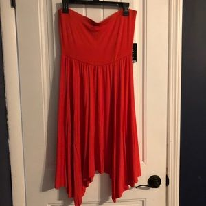 New with tags Express orange tube top dress